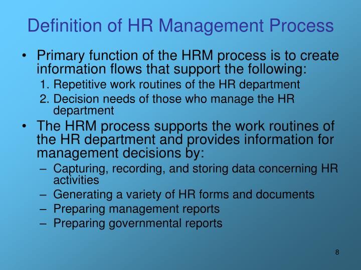 Definition of HR Management Process