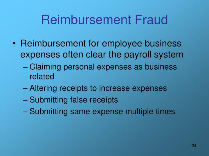 Reimbursement Fraud