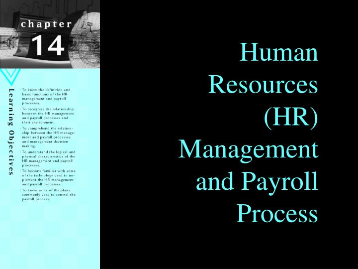 Human Resources (HR) Management and Payroll Process