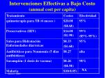 intervenciones effectivas a bajo costo annual cost per capita