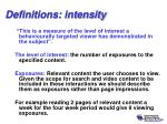 definitions intensity