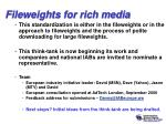 fileweights for rich media