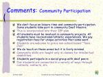 comments community participation