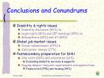conclusions and conundrums