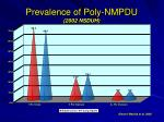 prevalence of poly nmpdu 2002 nsduh