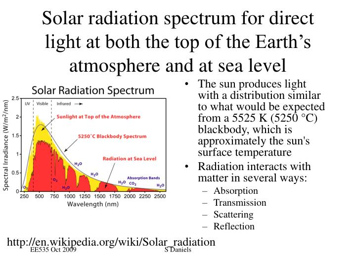 The sun produces light with a distribution similar to what would be expected from a 5525 K (5250 °C) blackbody, which is approximately the sun's surface temperature