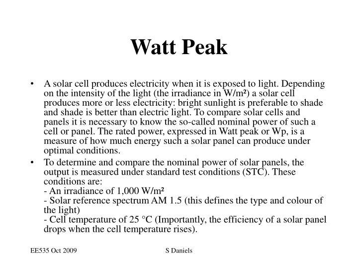 Watt Peak