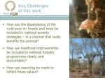 key challenges of this work
