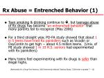 rx abuse entrenched behavior 1