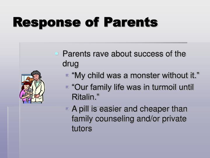 Response of Parents