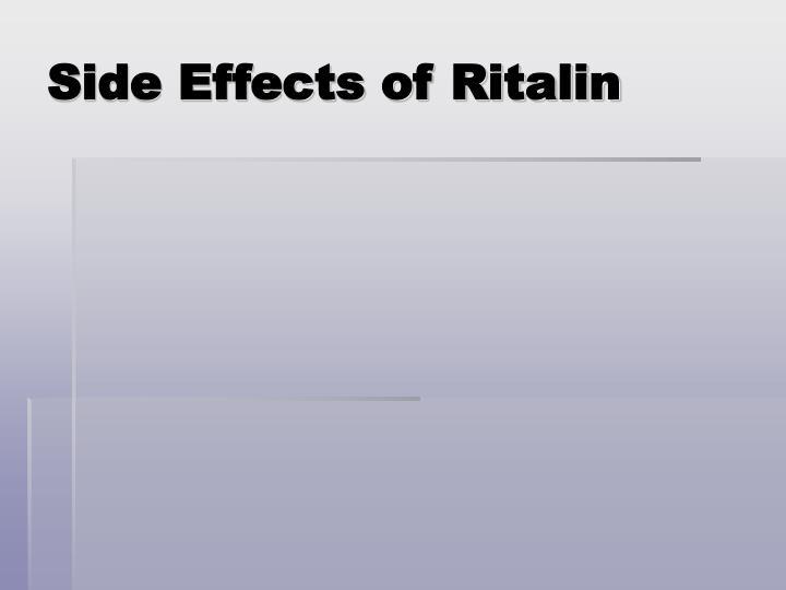 Side Effects of Ritalin