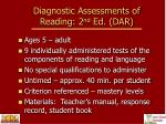 diagnostic assessments of reading 2 nd ed dar