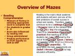 overview of mazes