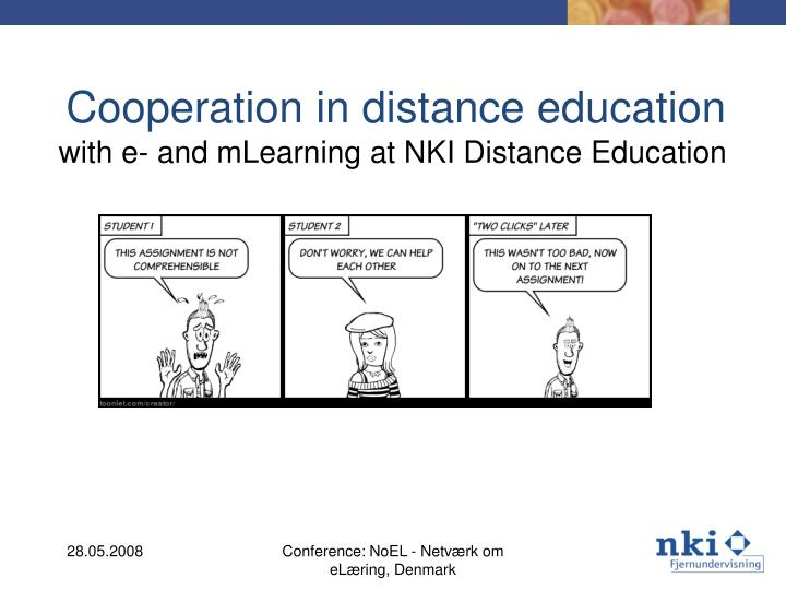 cooperation in distance education n.