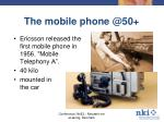 the mobile phone @50