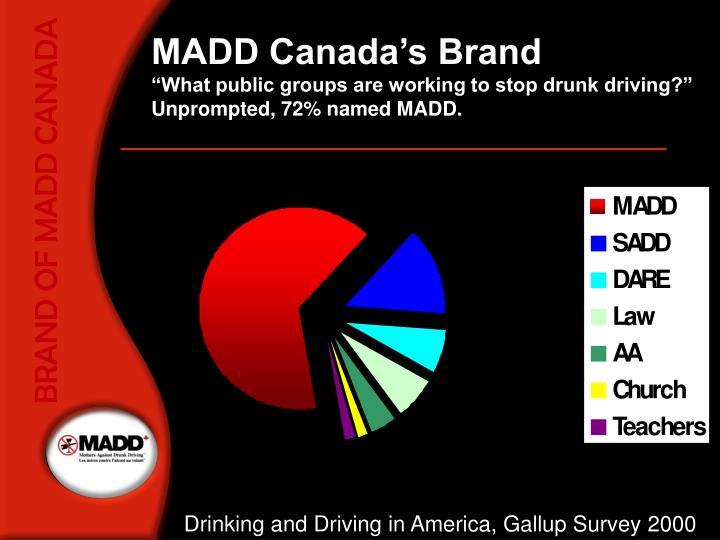 BRAND OF MADD CANADA