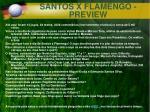 santos x flamengo preview