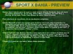 sport x bahia preview