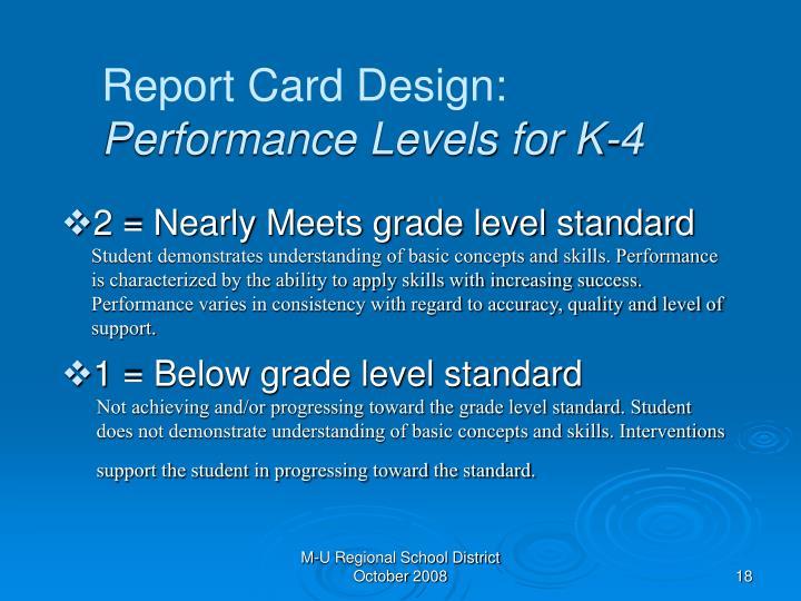 Report Card Design: