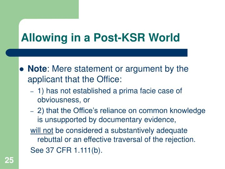 Allowing in a Post-KSR World