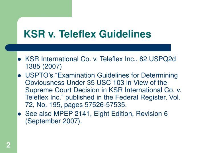 Ksr v teleflex guidelines