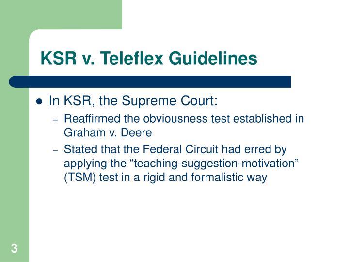 Ksr v teleflex guidelines1