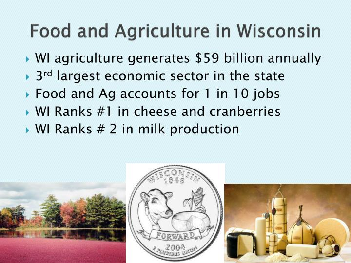 Food and agriculture in wisconsin