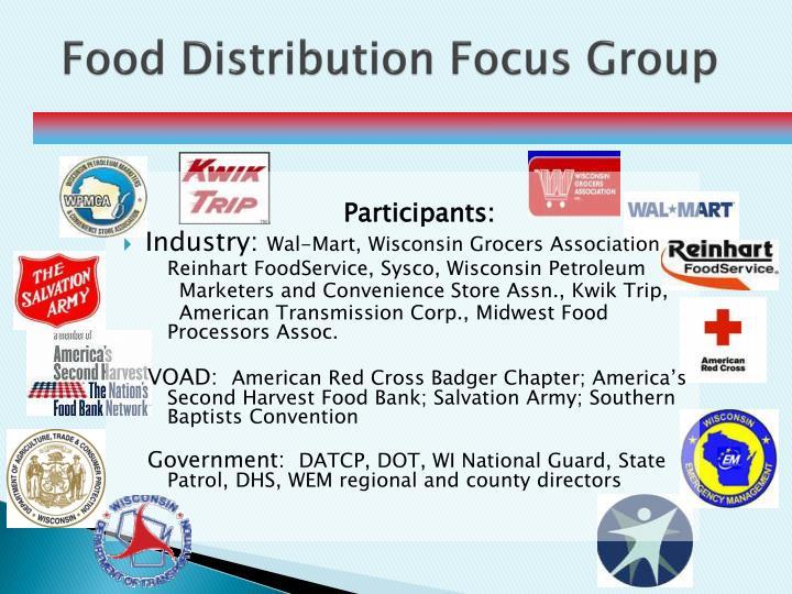 Food Distribution Focus Group
