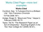 works cited page more text examples