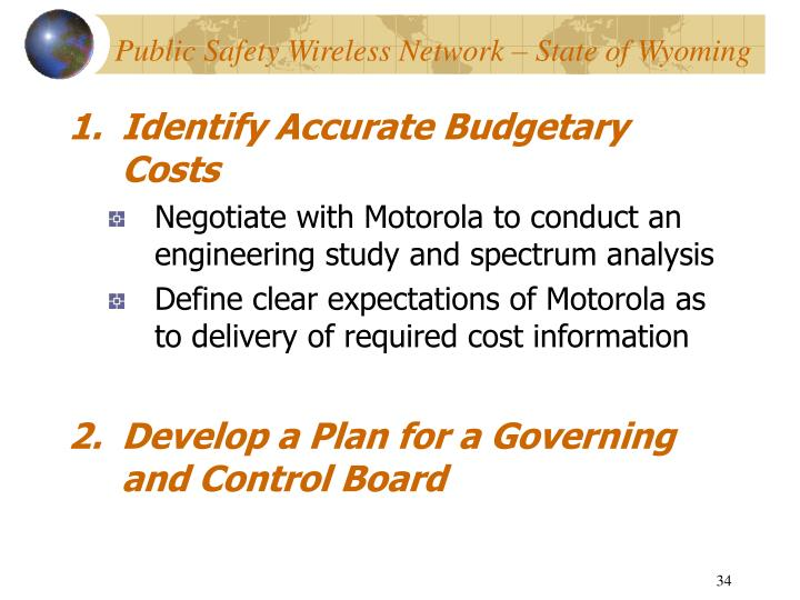 Identify Accurate Budgetary Costs