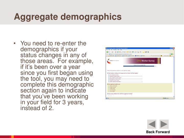 Aggregate demographics