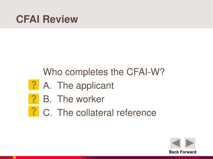 CFAI Review