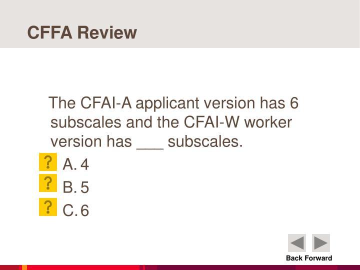 CFFA Review