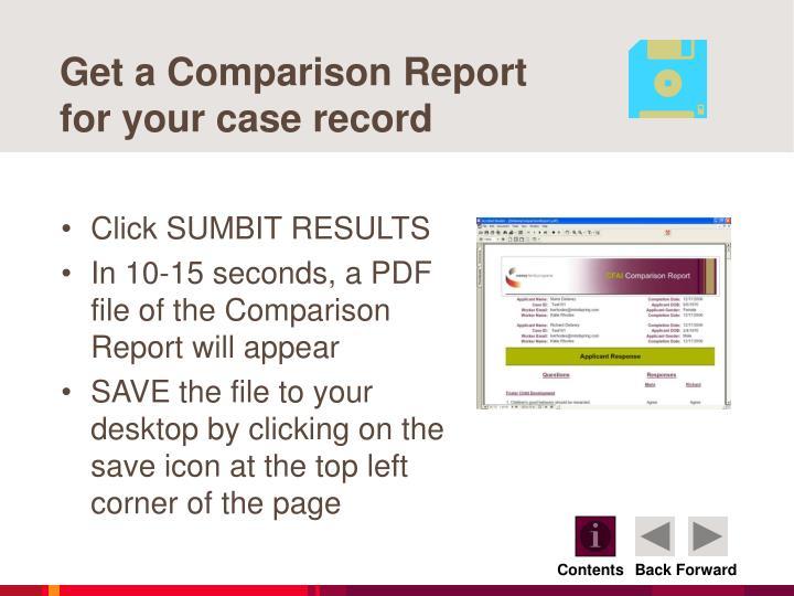 Get a Comparison Report
