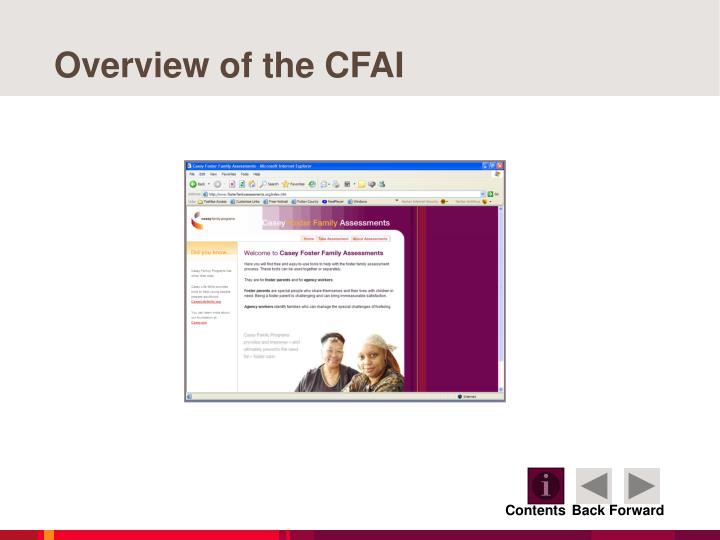 Overview of the CFAI