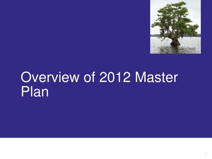 Overview of 2012 master plan