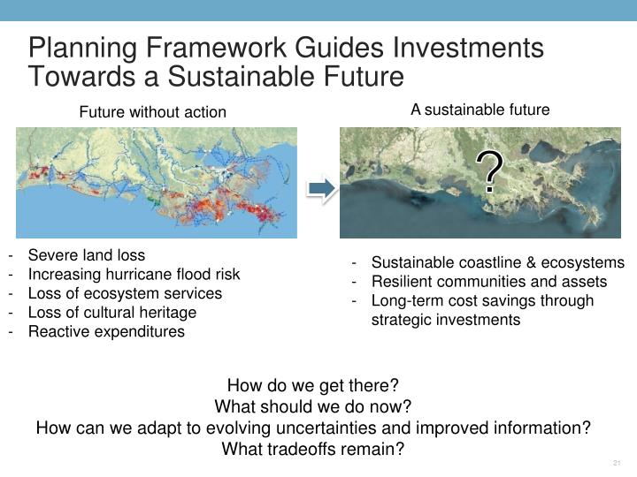 Planning Framework Guides Investments Towards a Sustainable Future