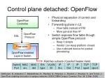 control plane detached openflow