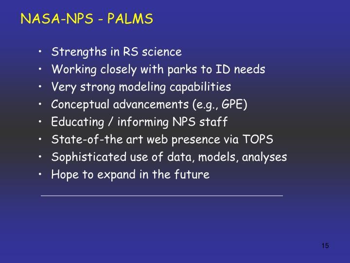 NASA-NPS - PALMS