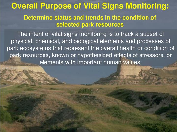 Overall Purpose of Vital Signs Monitoring:
