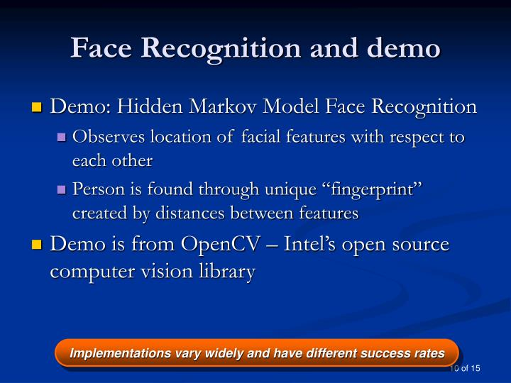Face Recognition and demo