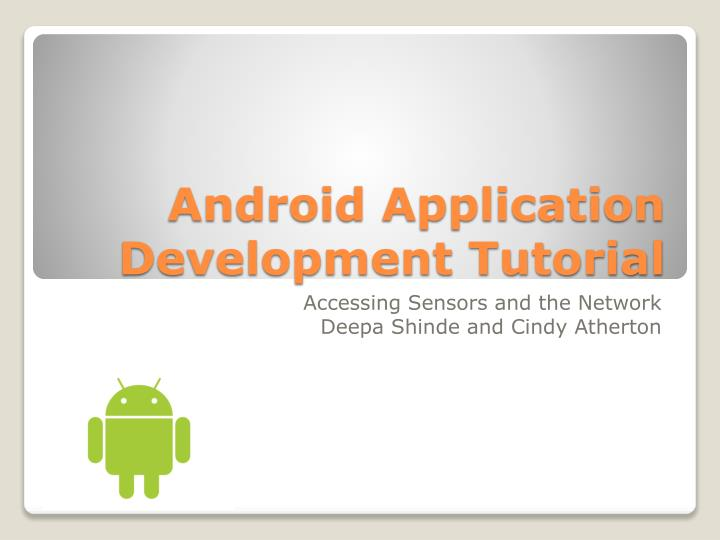 android application development tutorial n.