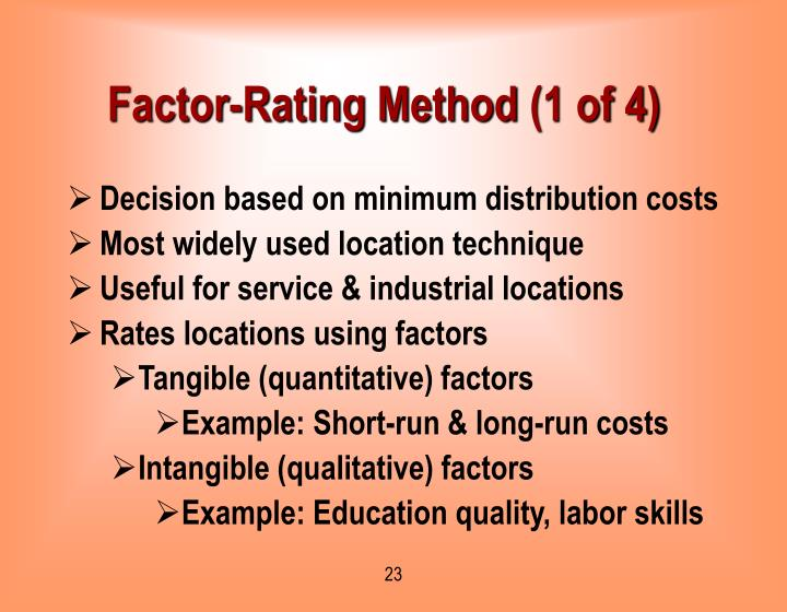 Factor-Rating Method