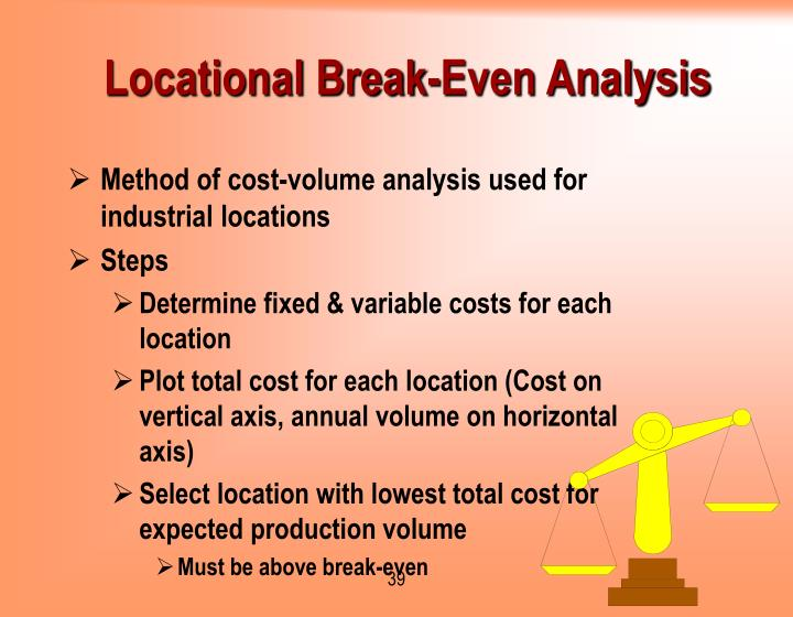 Locational Break-Even Analysis