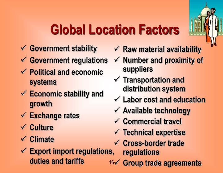 Global Location Factors