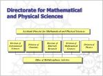 directorate for mathematical and physical sciences