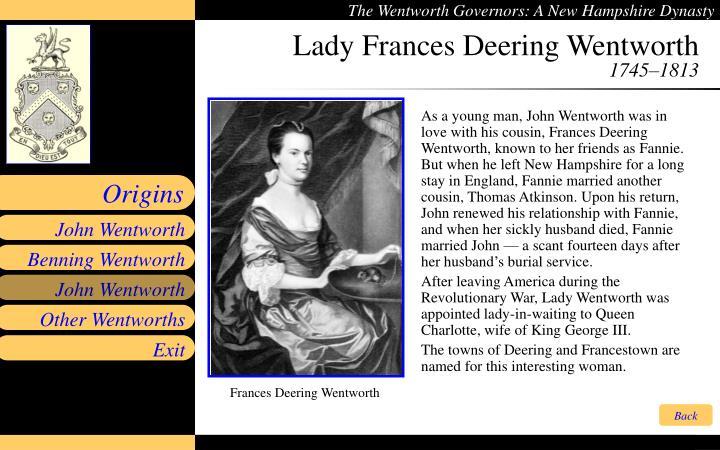 Lady Frances Deering Wentworth