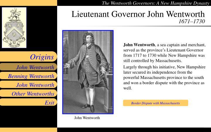 Lieutenant Governor John Wentworth
