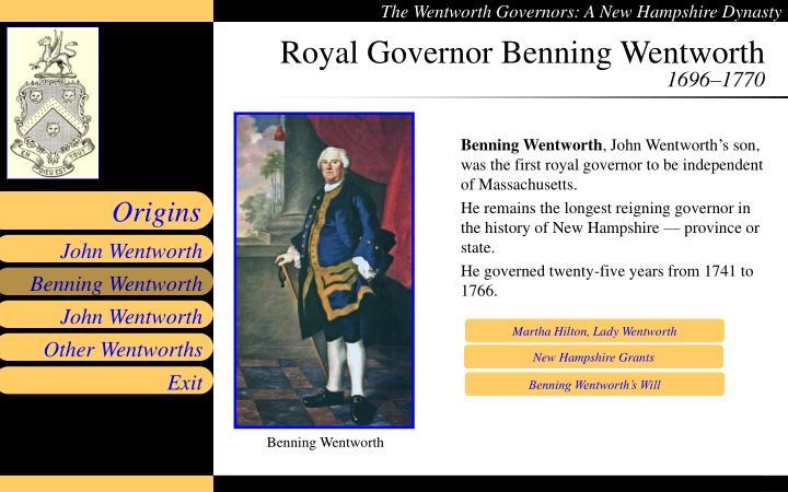 Royal Governor Benning Wentworth