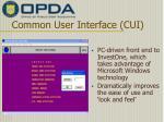 common user interface cui